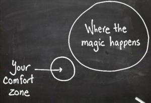 Las cosas suceden FUERA de nuestra zona de confort
